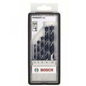 Bosch 2607010527 - Punte per legno, codolo rotondo, set da 5 pezzi