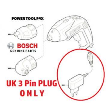 2016 2017 Bosch IXO 5 - UK 3 Pin Plug  -  BATTERY CHARGER - 1600A0048V - 500R#