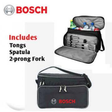 Bosch 3 Pc BBQ Set/Cooler Bag Outdoor Barbecue Tools Travel Bag for Contractors