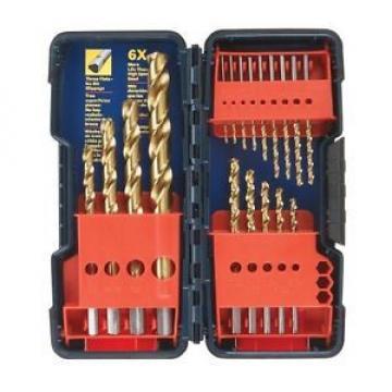 Bosch 18-Piece Titanium Coating Twist Drill Bit Set w/ Plastic Case Hand Tool NE