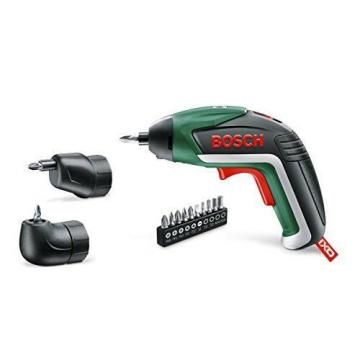 Bosch IXO Cordless Lithium-Ion Screwdriver with Right Angle Adapter and Easy Rea