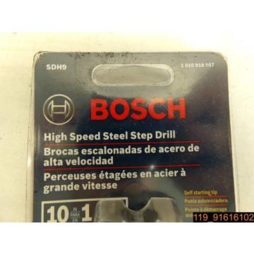 """BOSCH SDH9 HIGH SPEED STEEL STEP DRILL BIT 13/16"""" - 1 3/8"""" SDH9"""