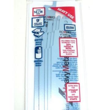 "NEW 5 Pack Bosch RCM9X2 Bi-metal Reciprocating Saw Blade 9""-14+18TPI-SWISS-FREE"