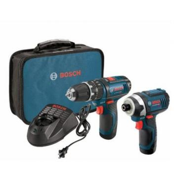 New Drill Driver 12 Volt Lithium Ion Cordless 3/8 in and 1/4 in Impact Combo Kit