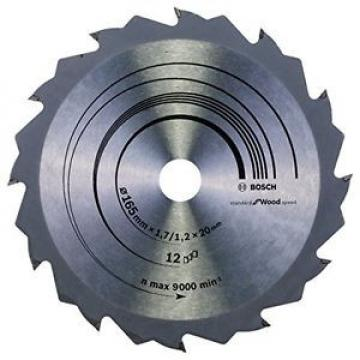 BOSCH lama per sega circolare speed line Wood, 165 x 20/16 x 1,7 mm, 12,
