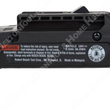 Bosch BAT612 18V Li-Ion Battery 2Ah Fuel Gauge New 2 Pack replaces BAT619 BAT610
