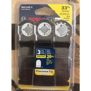 Bosch OSC114F-3 1-1/4-Inch Multi-Tool Bi-Metal Precision Plunge Cut Blade, 3-Pac