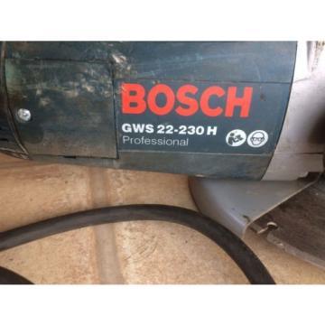 Bosch GWS 22-230 H Electric Grinder Including New Diamond Stone Cutting Disk
