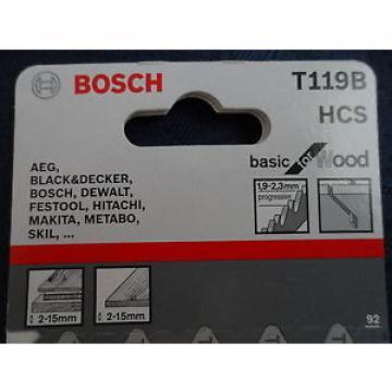Bosch Jigsaw blade T119b clean cut 5 blades wood progressive pitch 1.9-2.3mm