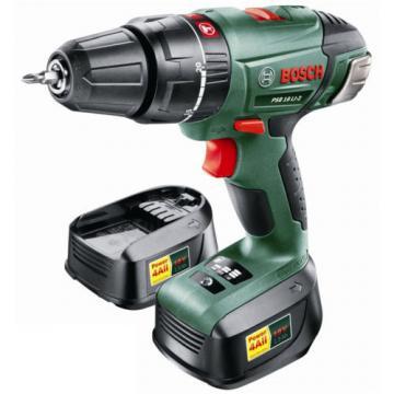 Bosch 18V Li-ion Cordless Hammer Drill Kit (Drill + Batteries + Charger)