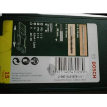 BOSCH 15 PCS DRILL BIT & SCREWDRIVER SET BRAND NEW 2607019579-879