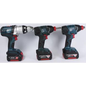 Bosch Drill Kit Drill and 2 x Impact Driver GSB 18 VE-2-LI GDX 18 V-LI #226319