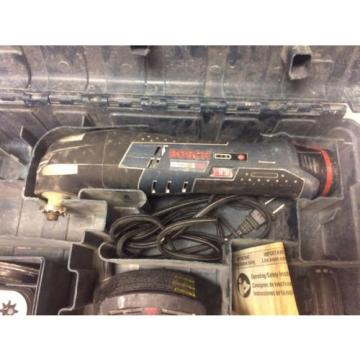 Bosch PS50 12V Multi-Tool, 3 Batteries, Charger, Case, 33 Blades and Manual