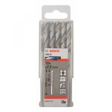 Bosch 2608595337 - Punta per metallo, codolo rotondo, HSS-G, 7,2 x 69 x 109 mm,