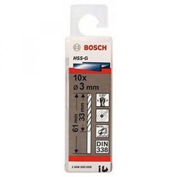 Bosch 2608595055 - Punta per metallo, codolo rotondo, HSS-G, 3,0 x 33 x 61 mm, 1