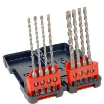 Bosch nuevo SDS Plus Resistente Caja Set Brocas Taladro 8 Piezas Cada