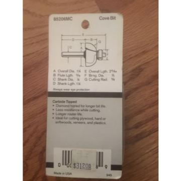 """Bosch 3/8"""" Cove Bit 85206MC"""