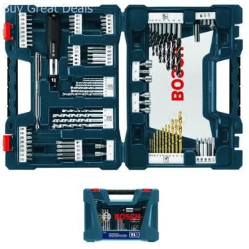 Drill Drive Bit Set 91 Piece Drilling Driving Kit Storage Box Power Tools New