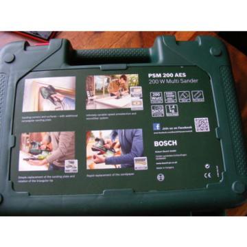 Brand New in Case 2 in 1 Bosch Multi-Sanders PSM 200 AES 200 W 240v