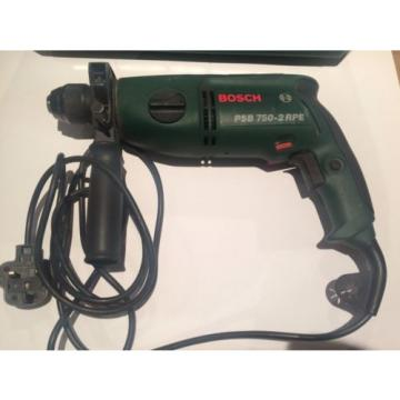 Bosch Percussion Hammer Drill corded PSB 750-2RPE Impact drilling 240v