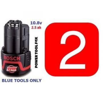 2 Bosch PowerALL 10,8V 2.5ah BATTERIES 2607337223 2 607 337 223 1600A004ZL - 745