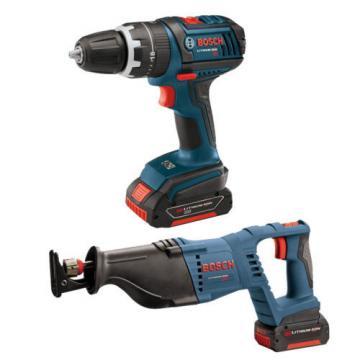 Bosch CLPK273-181 18V 2-Tool Drill, Reciprocating Saw, DSB5006 Spade Bit Set
