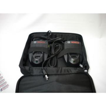 X2 Bosch BC330 Batterie chargers with case