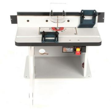 Router Table Bosch Cabinet Style Benchtop Tool Adjustable Laminated Power Wood