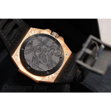 LINDE WERDELIN Octopus II MOON TATOO 18k rose gold mens automatic watch Limited