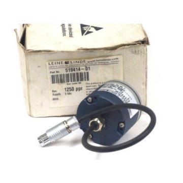 NEW LEINE & LINDE RSI-593 ENCODER 519414-01 , 1250 PPR TTL