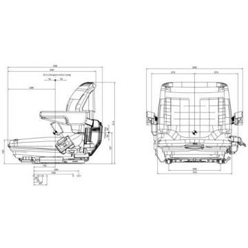 Grammer Máquina De La Construcción Asientos Montacargas para Linde MSG20 Tejido