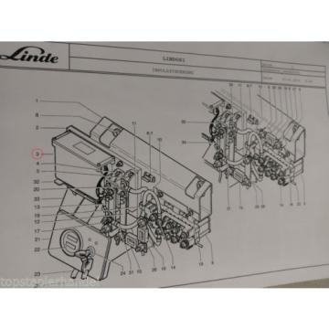 Wiring Electronic system Impulse control Linde no. 3903605034 Type T16/18/20 BR