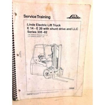Linde Electric Lift Truck E14-E20 With Shunt Drive & LLC Training Manual (4234)