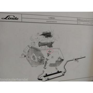 Seal Exhaust system Linde no. 0009611023 Type H12/15/16/18 BR 330,350