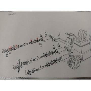 Set guarnizioni Cilindro di brandeggio Linde Stapler BR322/324 E12/15/16 no.