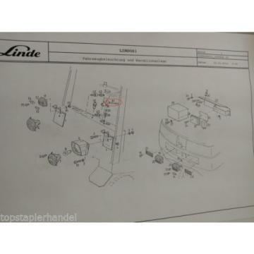 Deviosgancio sterzo Interruttore Linde no. 0009732612 Tipo E20/25/30 H12/15 BR