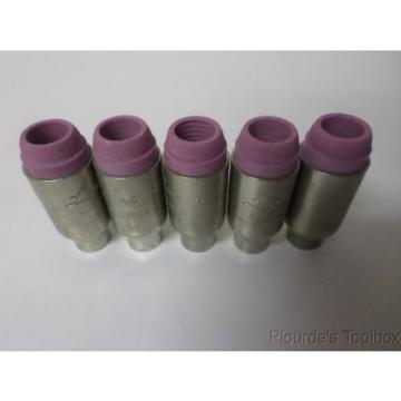Lot of (5) New Linde No. 4 Alumina Cups, HW-17 & 18 Torch, 10N56