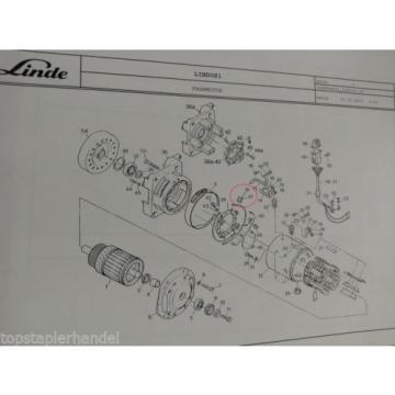 Balai En Charbon Moteur De Traction Linde No. 0009718177 Type E12/14/15/16/18-02