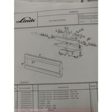 Gasket set for integrated Sideshift Linde 0009629002 E12/15/16/20 BR 322, 324