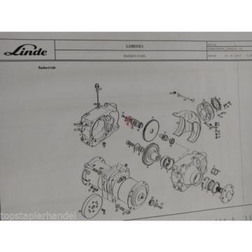 Lid Wheel drive Linde no. 009182042 Type E16/12/15/16 H12 BR 322,324, 350-01/02