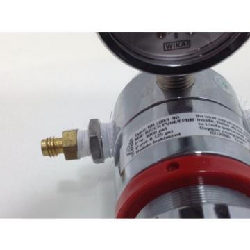 LINDE Gas regulator type RB 200/1 9D single stage 0-125 psi Oxygen compatable #2