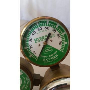 Linde Union Carbide  Oxygen Regulator Union Carnide type 205