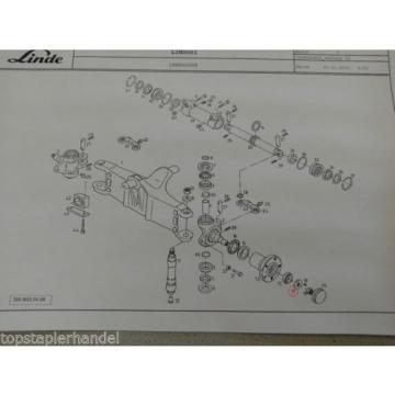 Rondella distanziale adatto a Assale sterzante Linde 0009141439 H12/16/18 E16/20