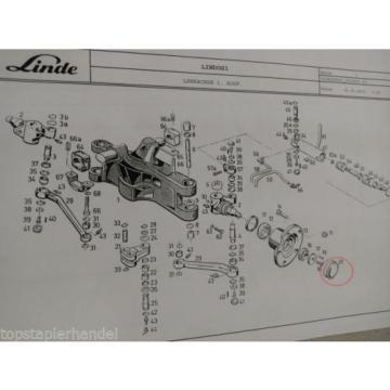 Hub cap Linde no. 3414540300 Type RE, H BR113,115,322,324,325,330, 351 etc