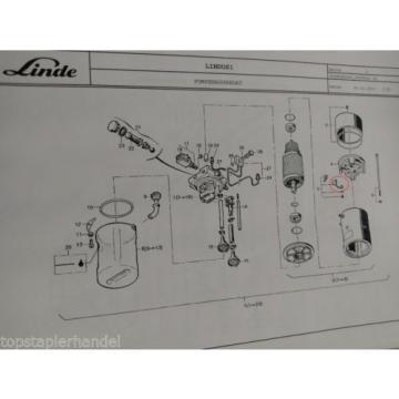 Kohlebürstensatz Pumpenaggregat Linde Nr. 0039718102 Typ T, L, N BR149,362,379