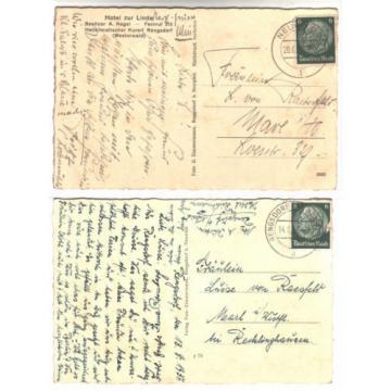 Kr. wied: RENGSDORF AK 1937, Hotel per Linde tonifica / MBK (Mühle,Lido balneare