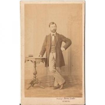 Herm. Linde CDV photo Feiner Herr - Lübeck 1860er