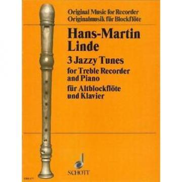 Linde: 3 Jazzy Tunes (Treble Recorder & Piano) OFB177