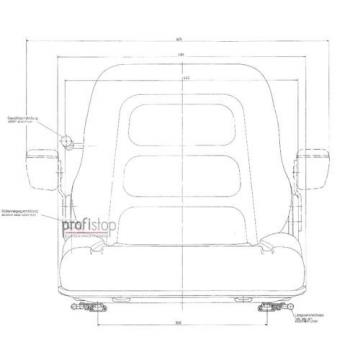 Stapler Sitz PS12 GS12 flache Federung passend Linde V - E – Schwerlast Stapler