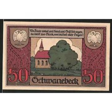Notgeld Schwanebeck, 1921, 50 Pfennig, 1000 Jahre alte Linde